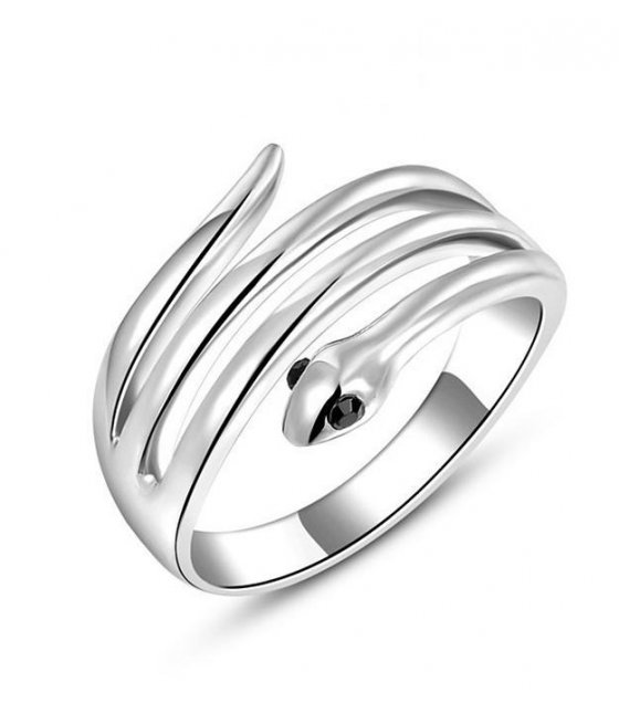 R237 - Rozi Silver Snake Ring