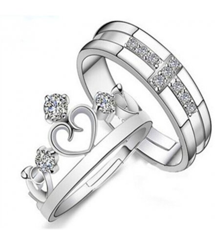 R245 - King and Queen Couple Silver set
