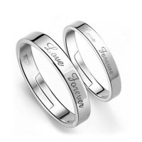 R246 - Love Forever Classic couple Ring Set