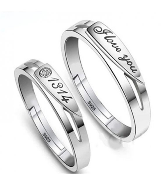 R249 - Couple Lovers Silver Ring set