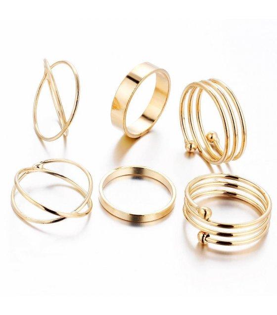 R287 - Gold Ring Set