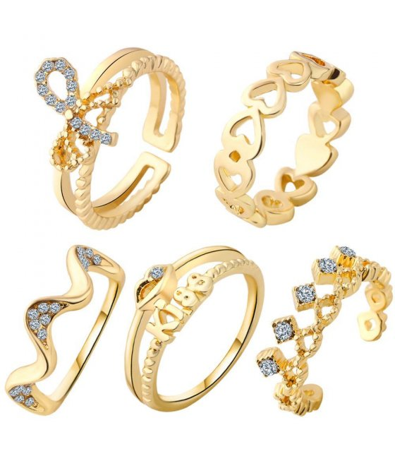 R296 - Crown Ring Set