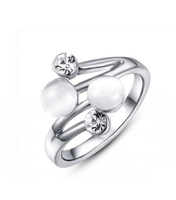 R303 - Silver Pearl Ring