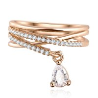 R363 - Heart Shaped Rose Gold Ring