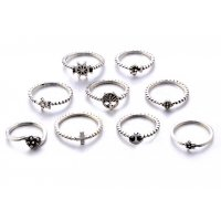 R407 - Silver Vintage Ring Set