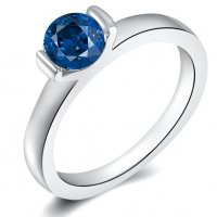 R413 - Blue diamond ring