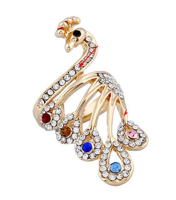 R414 - Exquisite Peacock Ring