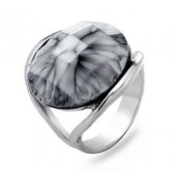 R417 - Gray eye ring creative gem ring
