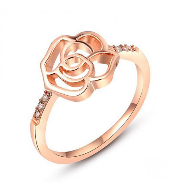 R424 - Plated Rose ring