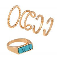 R431 - Turquoise Inlaid Ring Set