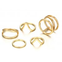 R467 - Three-layer spiral v-shaped ring