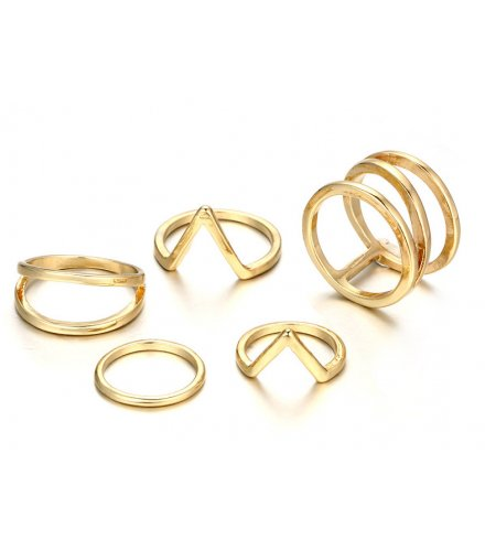 R467 - Three-layer spiral v-shaped ring