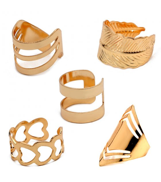 R469 - Heart-shaped geometric ring