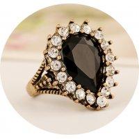 R476 - Water Drop Gemstone Ring