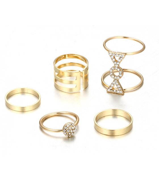 R479 - Fashion Geometric Ring Set