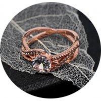 R484 - Zircon gold plated diamond ring