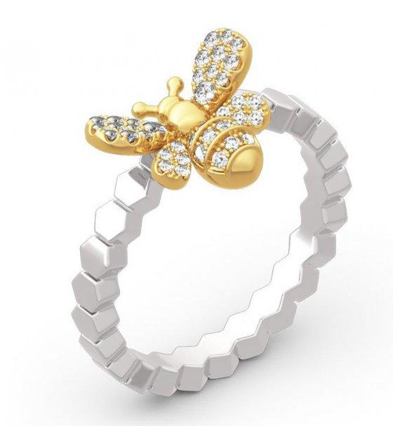 R489 - Diamond Honeycomb Ring