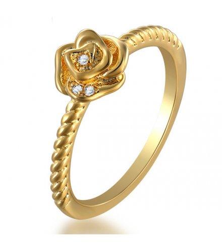 R490 - 18k gold ladies flower ring