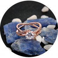 R508 - Retro Inlaid Zircon Ring