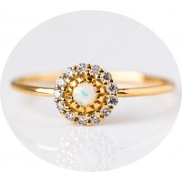 R509 - Opal Plated Ring