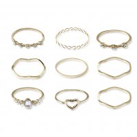 R515 - Gold Simple new hollow love ring