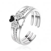 R527 - Four-leaf clover three-in-one ring