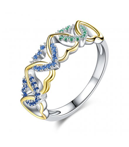 R533 - Two toned Heart Ring