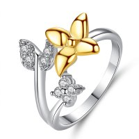 R539 - Butterfly two-tone ring
