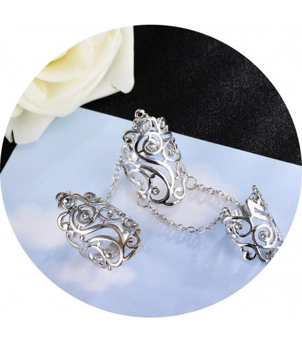 R542 - Diamond hollow rhinestone adjustable ring