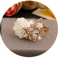 R544 - Retro Bohemian Butterfly Ring