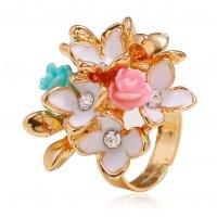 R548 - Retro alloy flower ring