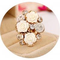R549 - Floral Adjustable Ring