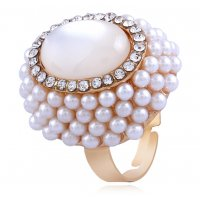 R550 - Open pearl cat eye ring