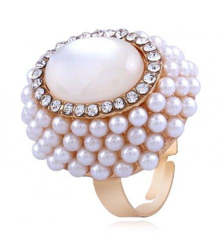 R550 - Open pearl cat eye ring