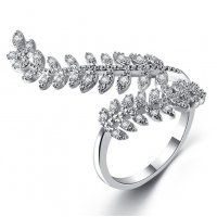 R557 - Leaf zircon open ring