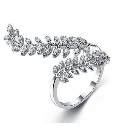 R557 - Leaf zircon open ring