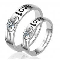 R563 - Korean Valentines Couple Ring