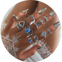 R574 - Retro fashion hollow lotus crown Ring
