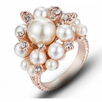 R577 - Gold Inlaid Pearl Ring