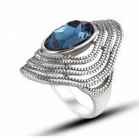 R584 - Retro fashion crystal ring