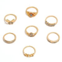 R589 - Butterfly leaf 7-piece ring