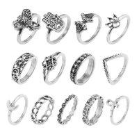 R592 - Retro 13-piece set ring