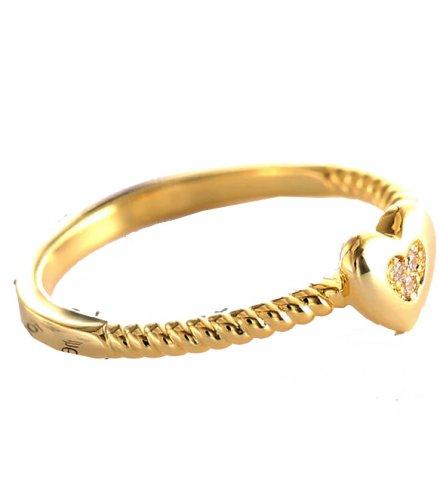 R597 - Fashion Heart Shaped Crystal Ring