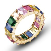 R603 - Zircon rainbow ring