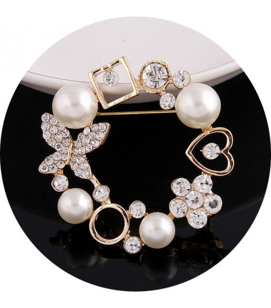 SB075 - Oval Luxury Brooch Pin