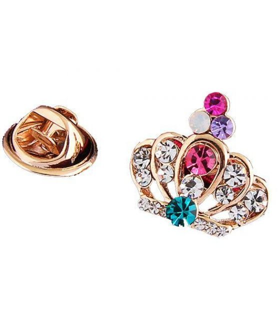 SB083 - Crown  collar clip brooch