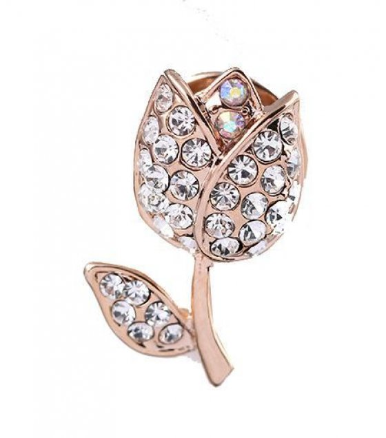 SB084 - Mini roses rhinestone collar pin brooch
