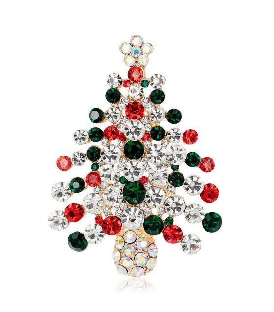SB088 - Crystal Xmas Tree pin brooch
