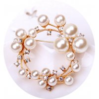 SB119 -  High-end ring pearl brooch
