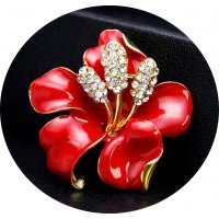 SB135 - Exquisite rose brooch